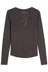 Zadig And Voltaire Jersey Top With Wool Grey