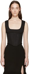 Givenchy Black Knit Corset Tank Top