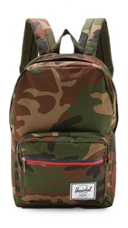 Herschel Pop Quiz Backpack Woodland Camo Navy Red