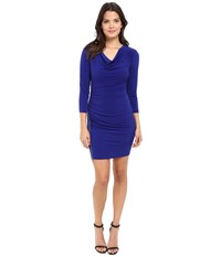 Jessica Simpson Solid Ity Dress Blue Violet Women's Dress