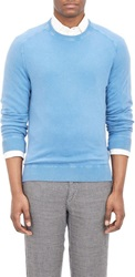 Massimo Alba Cashmere Crewneck Sweater Blue Size Xl