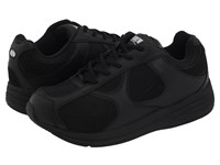 Drew Shoe Surge Black Leather Nubuck Mesh Men's Lace Up Casual Shoes