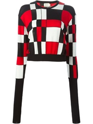 Fausto Puglisi Geometric Patterned Jumper Red