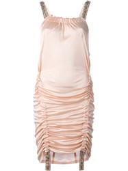 Christian Dior Vintage Beaded Strap Dress Pink And Purple