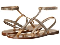 Pedro Garcia Ilania Ore Satin Women's Dress Sandals Metallic
