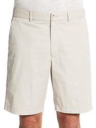 Perry Ellis Oxford Cotton Shorts Stone