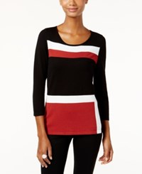 Inc International Concepts Colorblocked Crew Neck Sweater Only At Macy's