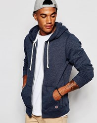 Abercrombie And Fitch Lightweight Hoodie Full Zip In Navy Marl Navy