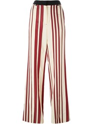 Sportmax Striped Wide Leg Trousers Nude And Neutrals