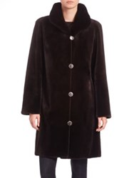 Carmen Marc Valvo Reversible Mink Fur Coat Brown