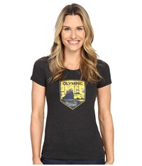 Columbia National Parks Tee Grey Heather Olympic Women's T Shirt Black