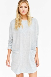 Bdg Long Sleeve Cozy Cocoon Dress Grey