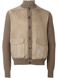 Loro Piana Panelled Cardigan Nude And Neutrals