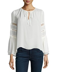 Parker Hadley Sheer Inset Blouse Ivory