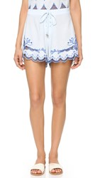 Somedays Lovin Azul Cutwork Tie Shorts Blue
