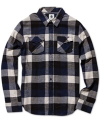 Element Men's Tacoma Plaid Shirt Indigo