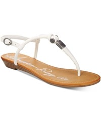 American Rag Sabel T Strap Flat Sandals Only At Macy's Women's Shoes White
