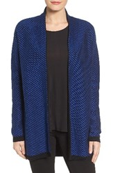 Chaus Women's Cotton Blend Jacquard Open Front Cardigan