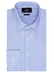 Hackett London Prince Of Wales Tailored Check Shirt Blue