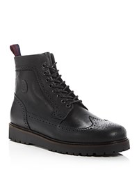 Fred Perry Northgate Wingtip Lace Up Boots Black