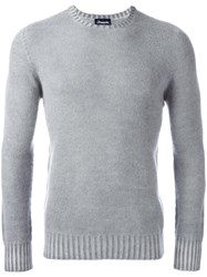 Drumohr Crew Neck Jumper Grey