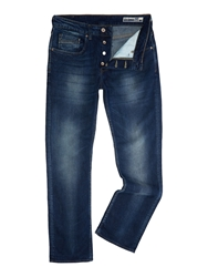 Duck And Cover Boxsir Medium Wash Mid Rise Jeans Blue