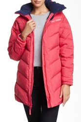 Helly Hansen Hilton Down Faux Fur Hooded Parka Pink