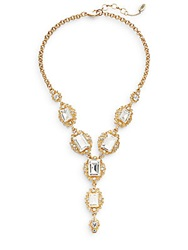 Amrita Singh Victorian Katherine Three Stone Drop Necklace Goldtone