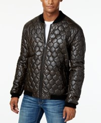Levi's Men's Faux Leather Quilted Jacket Brown