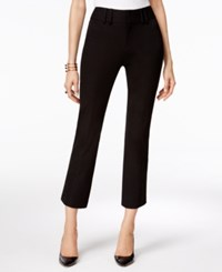 Inc International Concepts Cropped Flare Leg Pants Only At Macy's Deep Black