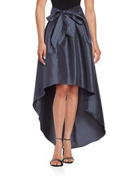 Marina Pleated Hi Lo Skirt Gunmetal