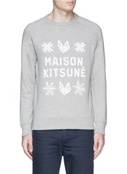 Maison Kitsune Fox And Snowflake Print Sweatshirt