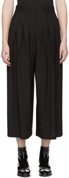 Mcq By Alexander Mcqueen Black Pleated Wide Leg Trousers