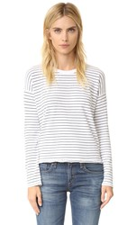 Rag And Bone Vintage Stripe Tee White Black