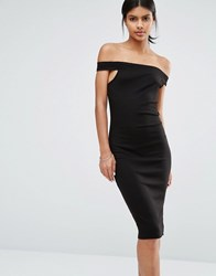 Vero Moda Bodycon Off The Shoulder Dress Black