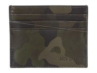 Jack Spade Camo Leather 6 Card Holder Camo Credit Card Wallet Multi