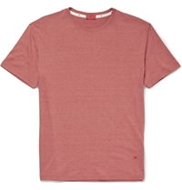 Isaia Silk And Cotton Blend T Shirt Red