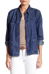Abound Chambray Jacket Blue