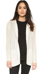 Atm Anthony Thomas Melillo Oversize Hooded Sweater Coat Cream