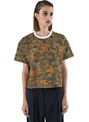 Marni Boxy Lame Jacquard T Shirt Brown