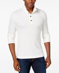 Club Room Men's Three Button Waffle Knit Only At Macy's Winter Ivory