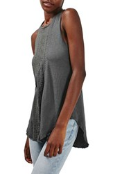 Topshop Women's Embroidered Loose Tank