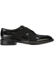 Givenchy Cross Strap Derby Shoes Black