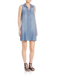 Bella Dahl Sleeveless A Line Shirt Dress Curacao Stripe Wash