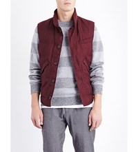Brunello Cucinelli Quilted Wool And Linen Blend Gilet Bordeux