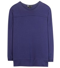 Y 3 Cotton Sweater Blue
