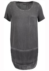 Noisy May Nmpuna Print Tshirt Asphalt Dark Gray