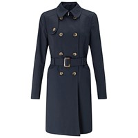 Miss Selfridge Trench Coat Navy