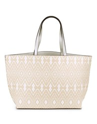 Echo Reversible Faux Leather Tote Fine Sand