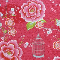 Pip Studio Birds In Paradise Wallpaper 313011 Red